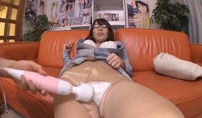 Top pov masturbation along busty doll, Yui Hatano