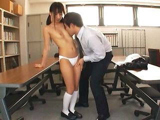 Skinny schoolgirl Yuuki enjoys hardcore sex at school