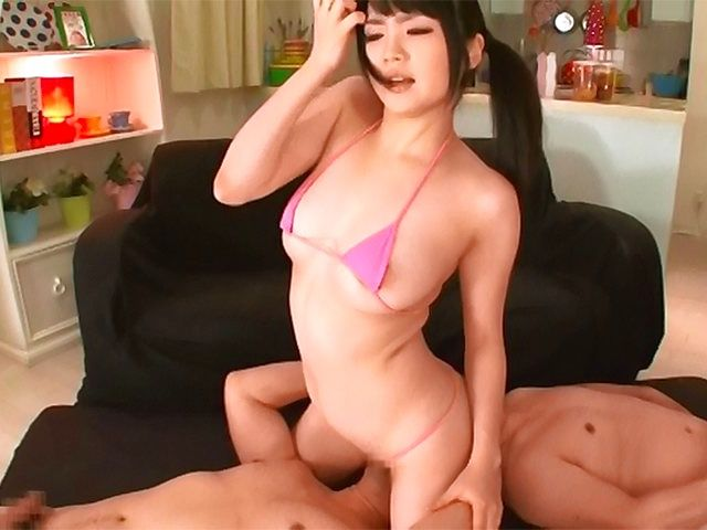 Savory Japanese beauty Nomiya Satomi has fun in a threesome