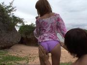 Gorgeous Kirara Asuka Gets Fucked While On The Beach