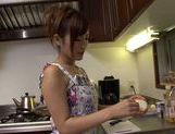 Cute housewife Kimi Hirosue nice ass hot fuck with cum on tits picture 5