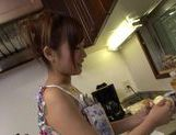 Cute housewife Kimi Hirosue nice ass hot fuck with cum on tits picture 6