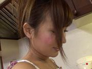 Cute housewife Kimi Hirosue nice ass hot fuck with cum on tits