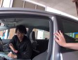 Teen amateur Kokoro Harumiya masturbates inside a car picture 3