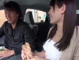Teen amateur Kokoro Harumiya masturbates inside a car picture 4