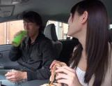 Teen amateur Kokoro Harumiya masturbates inside a car picture 6