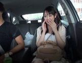 Teen amateur Kokoro Harumiya masturbates inside a car picture 7