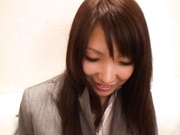 Yua Kisaki Lovely Asian babe in sexy black lingerie