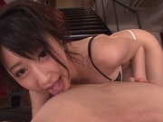 Cock sucking Arisa Misato gets nasty in POV sessionasian women, japanese pussy}