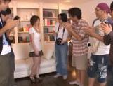 Horny and filthy babe Makoto Yuuki teased and fondled by a bunch of guys picture 3