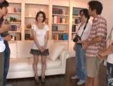 Horny and filthy babe Makoto Yuuki teased and fondled by a bunch of guys picture 6