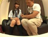 Rei Mizuna Asian doll in school uniform gets her cunt fingered picture 4