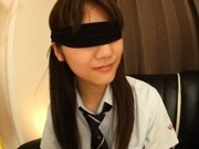 Rei Mizuna Asian doll in school uniform gets her cunt fingered