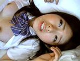Japanese AV Model is a nice teen in her school uniform