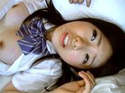 Japanese AV Model is a nice teen in her school uniform horny asian, fucking asian}