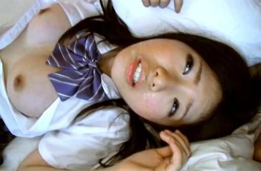 Japanese AV Model is a nice teen in her school uniform
