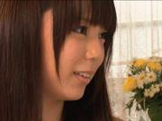 Big eyed Yuria Ayane watches as a guy has his way with her