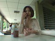 Beautiful Asian milf Yuna Hasegawa gets cum in her mouth