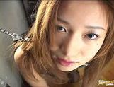 Japanese babe gets pussy domination picture 13