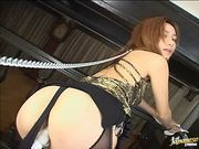 Japanese babe gets pussy domination
