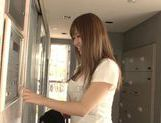 Beautiful Kazuho Mukai Asian teen gets a rear fucking picture 8