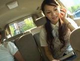 Ameri Ichinose masturbates in the carxxx asian, asian sex pussy, Ameri Ichinose