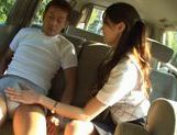 Ameri Ichinose masturbates in the carhorny asian, cute asian, Ameri Ichinose