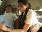 Ameri Ichinose masturbates in the carjapanese pussy, asian ass, Ameri Ichinose