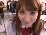 Miku Ohashi Sexy Asian schoolgirl has a nice round ass picture 15