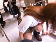 Miku Ohashi Sexy Asian schoolgirl has a nice round ass