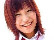 Uniform Clad Yukari Fujima Fingers her Pussy