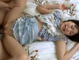 Horny guy gives a Japanese AV Model a hard banging