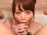 Akiho Yosizawa Bends Over For A Bathroom Fucking
