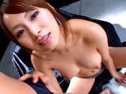 Akina Asian model gives sensual blowjobhot asian pussy, japanese porn}