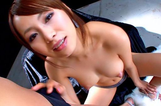Akina Asian model gives sensual blowjob