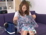 Ria Mamu Japanese model is getting her hairy wet snatch licked picture 4