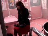 Hot milf Japanese AV model gets fucked by a gynecologist  picture 14