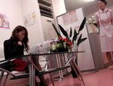 Hot milf Japanese AV model gets fucked by a gynecologist