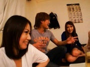 Japanese AV model in a wild orgy