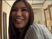 Amateur Japanese AV Model hairy pussy teased and fucked