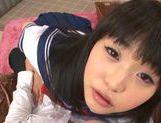 Japanese AV Model in school in uniform gets cum in her mouth