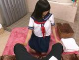 Japanese AV Model in school in uniform gets cum in her mouth picture 11
