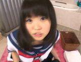 Japanese AV Model in school in uniform gets cum in her mouth picture 15