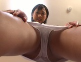 Frisky solo girl Miyu Suzumura rubs her slit with toys and gets drilled