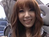 Yui Hatano Asian model masturbates in a car