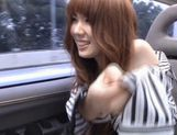 Yui Hatano Asian model masturbates in a car picture 13