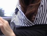 Yui Hatano Asian model masturbates in a car picture 15