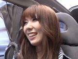Yui Hatano Asian model masturbates in a car picture 9