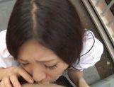 Iori Tsukimoto gives a blow job, and gets a handful of cum