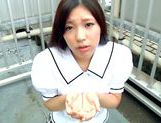 Iori Tsukimoto gives a blow job, and gets a handful of cumcute asian, asian anal}